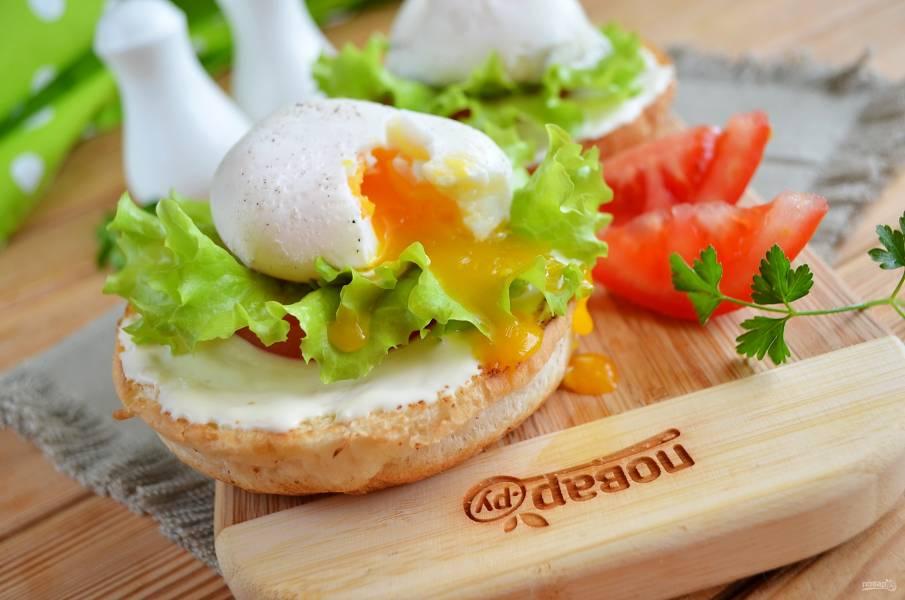 Бутерброд с яйцом (мастер класс)