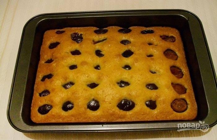 Выпекайте пирог при 180 градусах в течение 35 минут в духовке. Приятного чаепития!