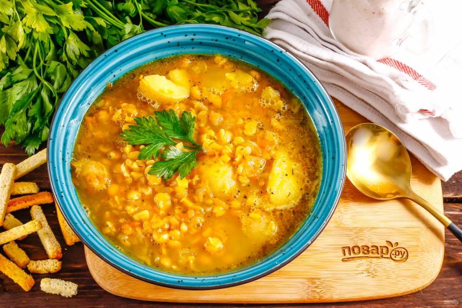 Индийский гороховый суп
