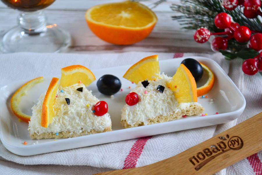 Детский десерт в виде крысенка