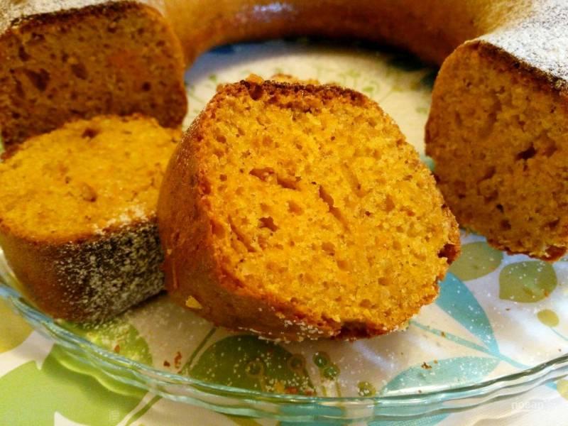Сливочно-тыквенный пирог с арахисом