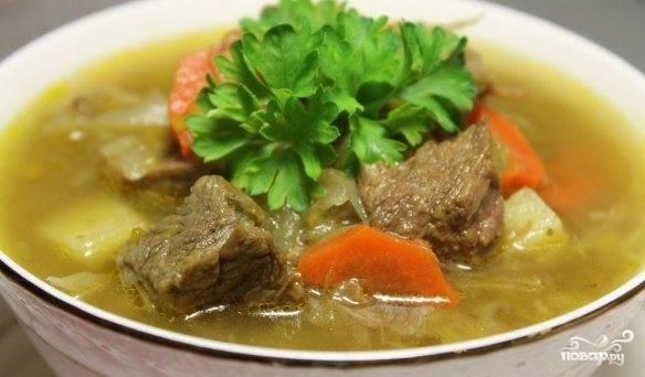 Суп из говядины и картофеля