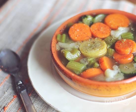 Овощной суп из замороженных овощей
