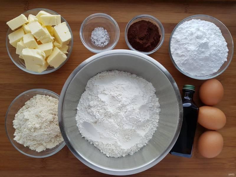 Для начала подготовим все необходимые ингредиенты. Масло должно быть комнатной температуры.