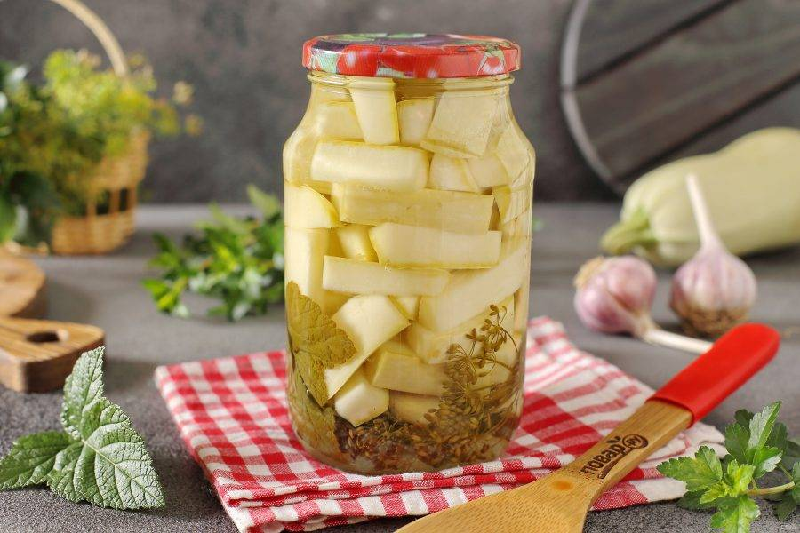 Маринованные кабачки с лимонной кислотой на зиму готовы. Приятного аппетита!