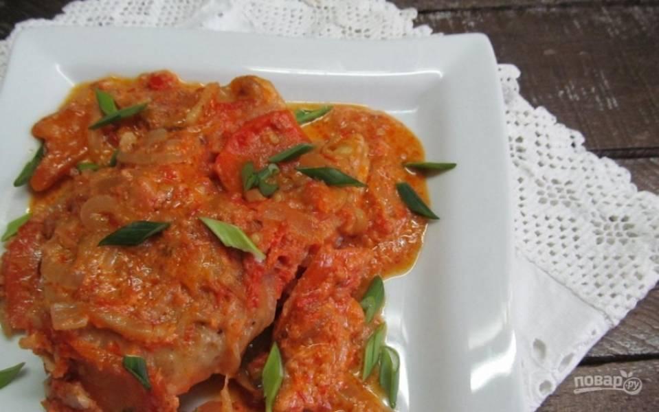 9.Готовую щуку в сметанном соусе подаю горячей, приятного аппетита!