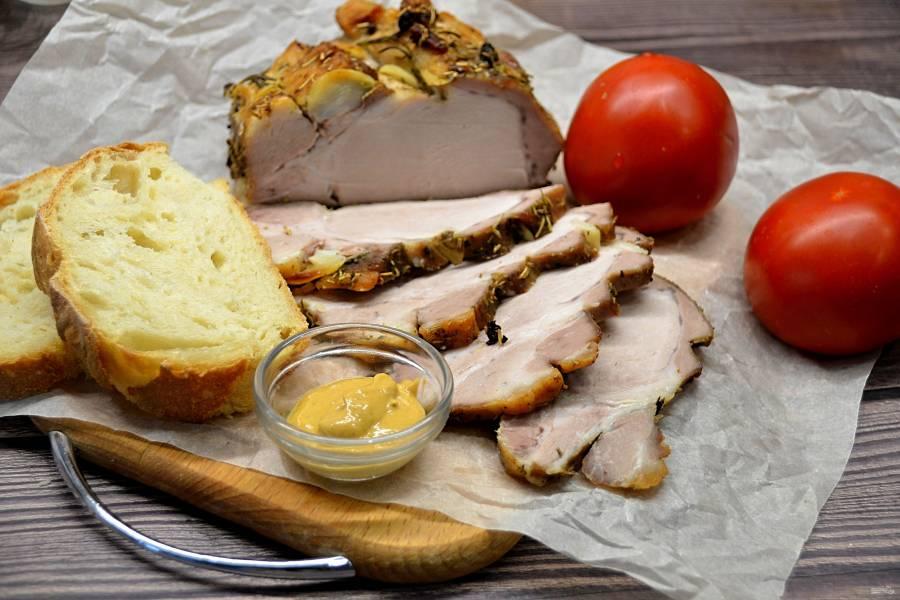 Свиной карбонат в рукаве в духовке