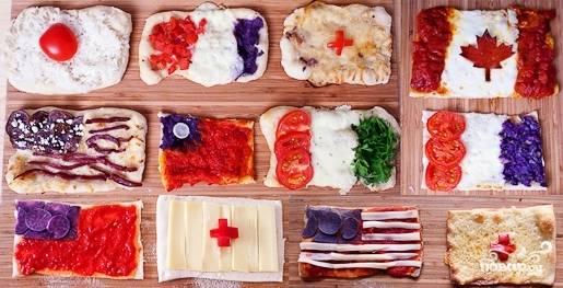 Пицца в виде флагов