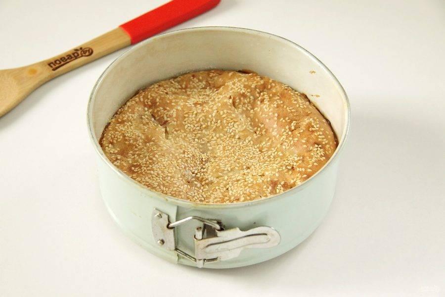 ПП пирог с капустой готов.
