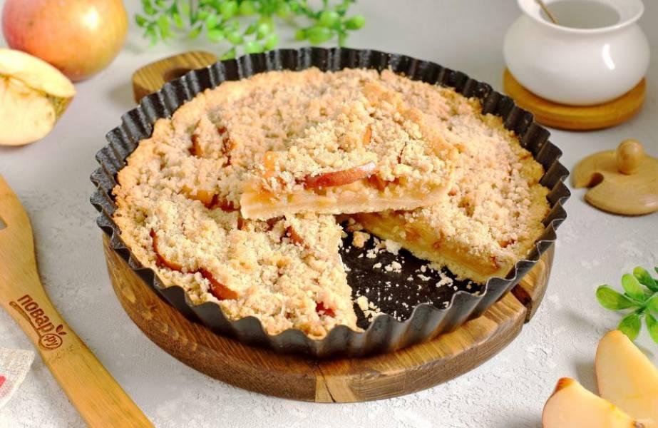 Нарежьте пирог на порции и подавайте к столу. Приятного аппетита!