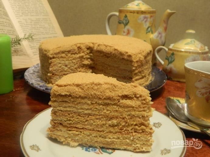 """Торт """"Медовик"""" без яиц"""