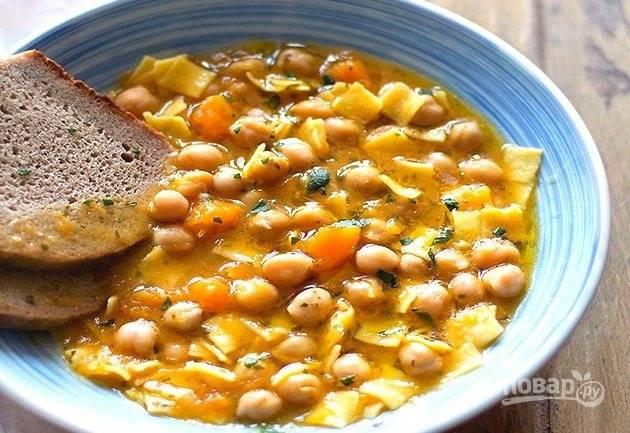 Суп с тыквой и нутом