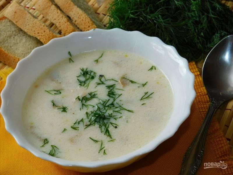 Грибной суп по-венгерски