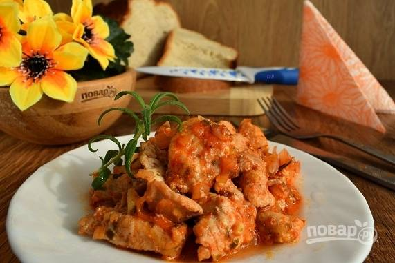Курица по-итальянски (Каччиаторе)