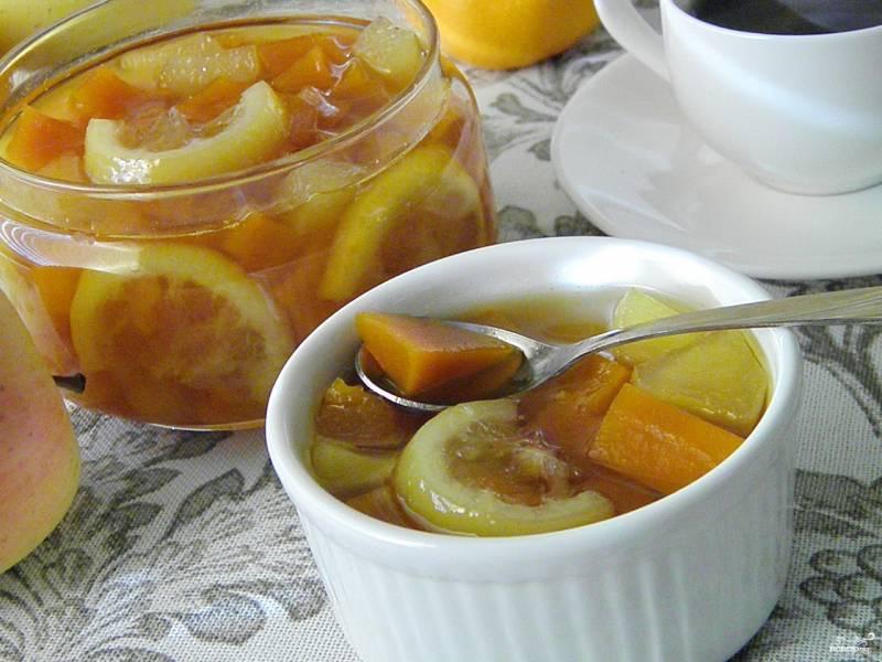 Варенье из тыквы с яблоком и лимоном