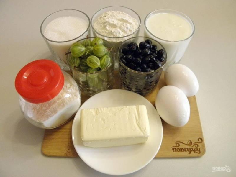 1. Приготовьте продукты для пирога. Также понадобится разъёмная форма или мультиварка. Я буду печь пирог в кастрюле мультиварки.