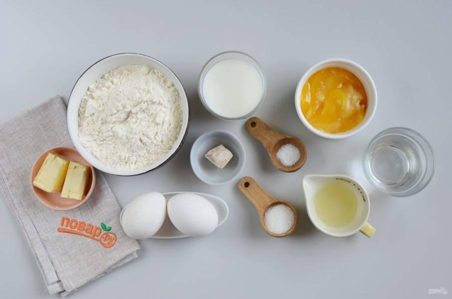 Подготовьте ингредиенты. Сливочное масло должно быть комнатной температуры, мягкое.