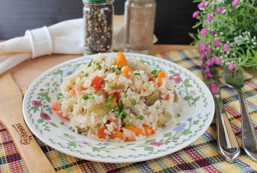 Баклажаны с рисом в мультиварке