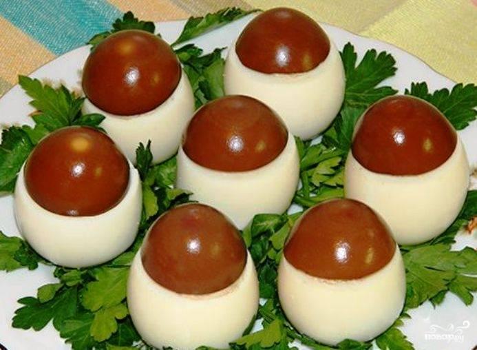 Грибочки из яиц