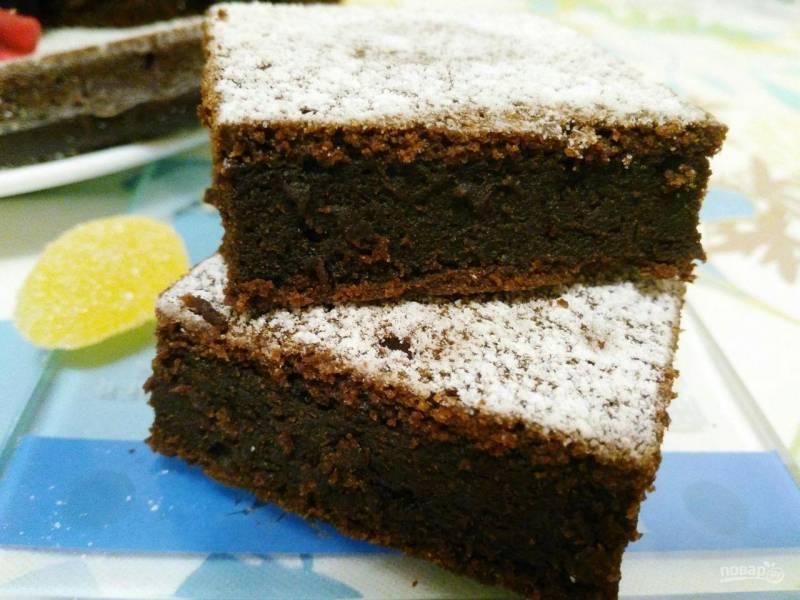 Шоколадный пирог с гречневой мукой