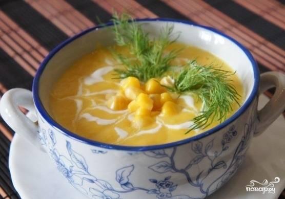Крем-суп из сладкой кукурузы