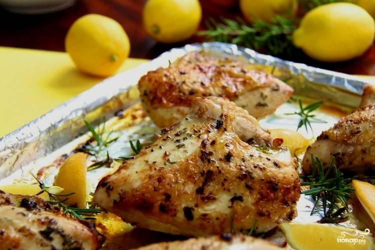 Курица с розмарином в духовке