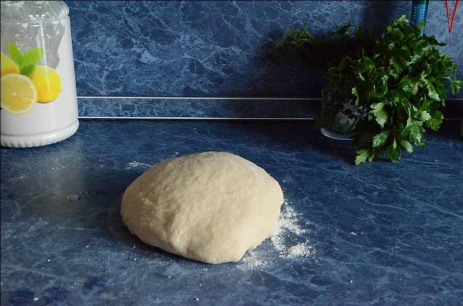 1. Как и классический, рецепт приготовления мантов с творогом начинается с теста. Для этого необходимо из воды, муки, яйца и соли замесить тесто. Оно должно быть довольно плотным, но при этом податливым и эластичным. Сделать его таким поможет довольно длительный замес. Готовое тесто отложить на время в сторону.
