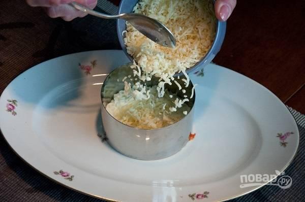 4. Следом - тертый сыр.
