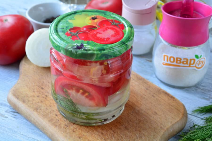 Сладкие маринованные помидоры дольками