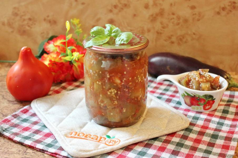 Баклажаны в томатной заливке