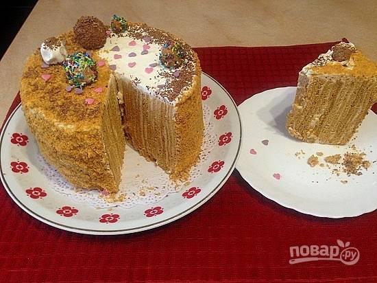 17. Вот такой необычный получается торт, и очень вкусный:)