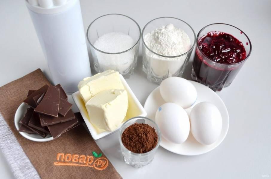 1. Подготовьте продукты, приступим! Включите сразу духовку на 180 градусов, пусть прогревается.