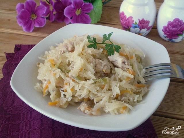 Солянка с мясом и капустой