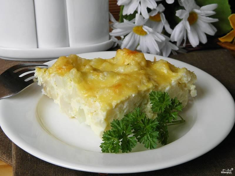Цветная капуста с яйцом и сыром