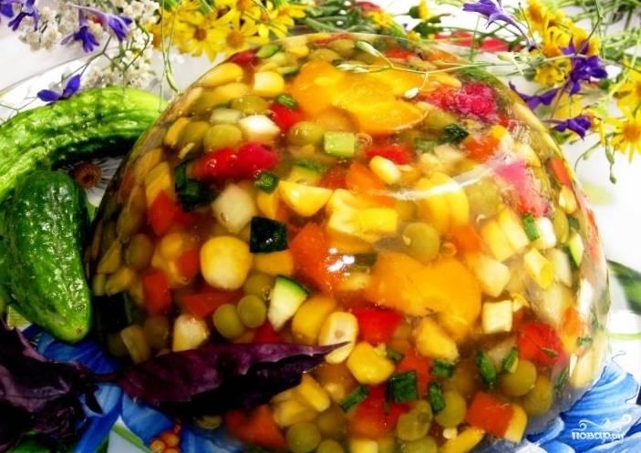 Вегетарианское заливное