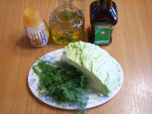 1. Приготовим продукты для салата.