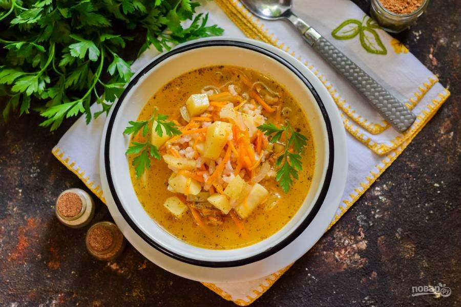 Суп с корейской морковью