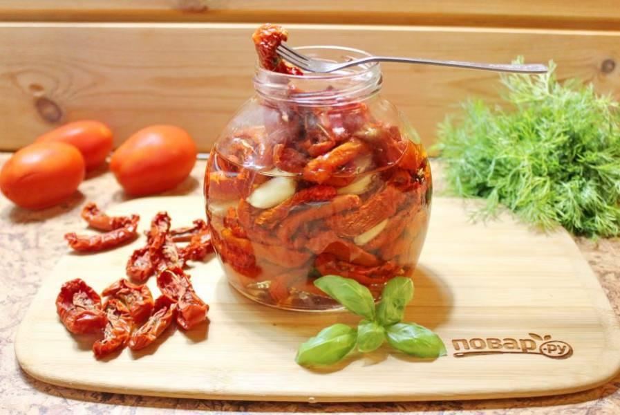 Такие помидоры будут храниться в холодильнике до года.