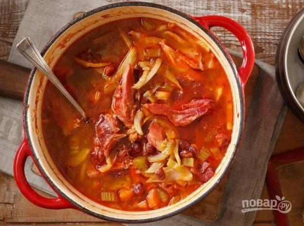 Суп из свиной рульки