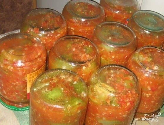 Аджика из зеленых помидоров сырая