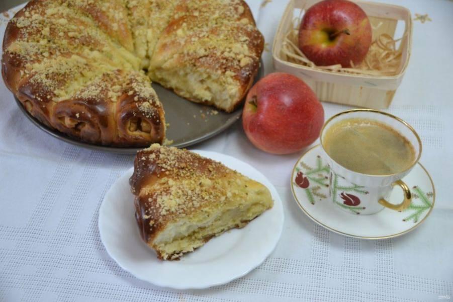 """Пирог """"Яблочные рожки"""" получился ароматным, красивым, вкусным. Рекомендую приготовить, это просто!"""