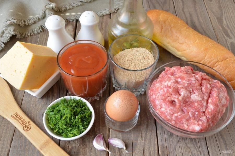 Подготовьте продукты. В качестве зелени можно использовать укроп, петрушку или перо зеленого лука. Свежий чеснок можно заменить порошком. Приступим!