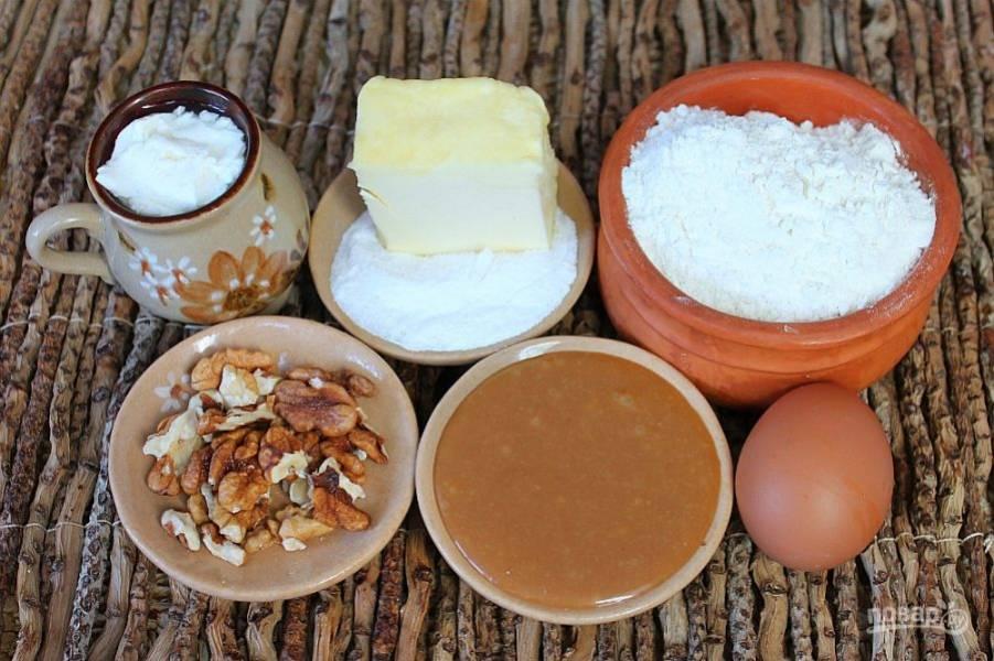 Подготовим ингредиенты для карамельного кекса.