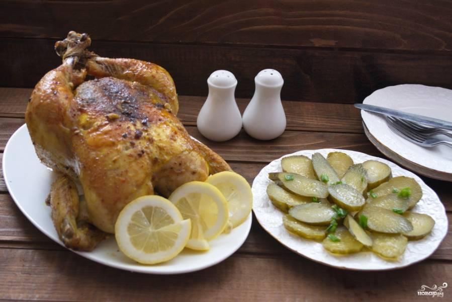 Курица, запеченная в сливочном соусе