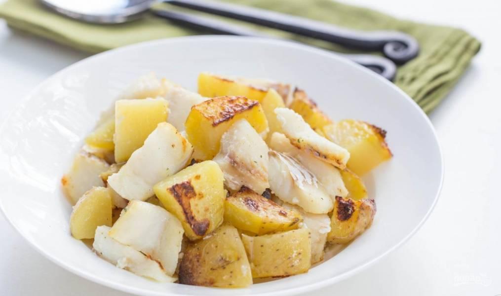 Картофель с треской