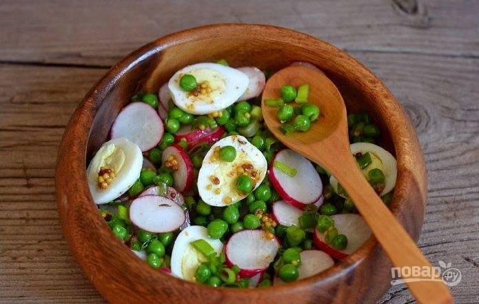 Салат из горошка