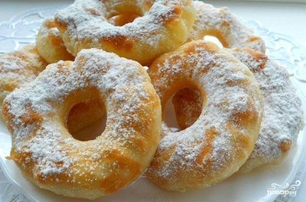 Вкусные пончики на кефире