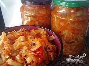 Готовую солянку разложить по стерилизованным банкам, закупорить, перевернуть, укутать и оставить до полного остывания. Ну вот, теперь вы знаете рецепт приготовления консервированной солянки. Удачи и новых вкусных заготовок!:)