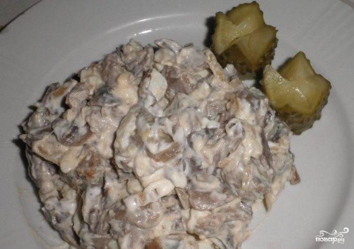 Салат из пупков куриных