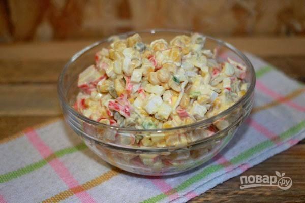 """Салат """"Крабовые палочки"""" классический рецепт"""